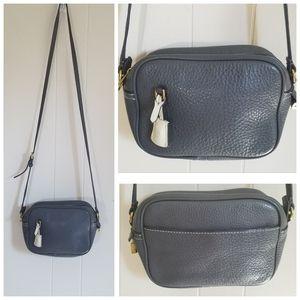 J. Crew signet crossbody bag purse gray leather